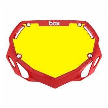 PLACA PORTA NUMERO BOX MINI RED